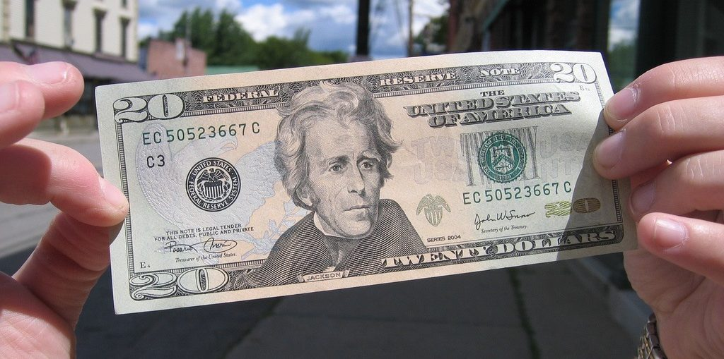 NationalLink Withdraw Cash Wednesday 20 dollar bill photo