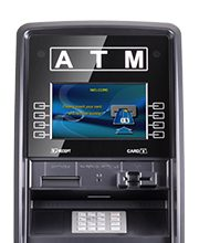 branding digital screen/toppers for atm machines photo