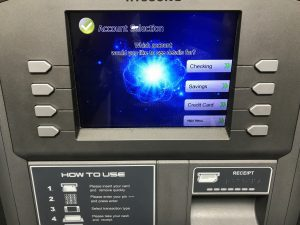 ATM Machine Dual Balance Screen Select Account Photo