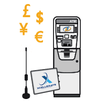 ATM Solutions Icon With Wireless, ATM, and Value Added Services Homepage
