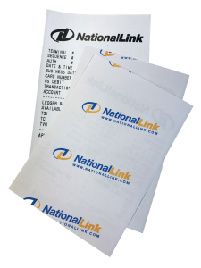 NationalLink ATM branding receipt - coupon photo