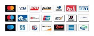 NationalLink ATM Processing Credit Cards Processing Major Networks Icons