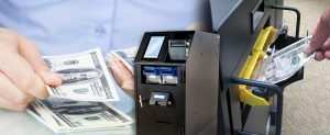 NationalLink DirectVault Smart Safes and Cash Recyclers - Person inserting cash in safe photo