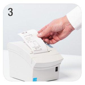 NationalLink Smart Safe Machine Intimus Perfodeposit - How Does It Work - Receipt Photo