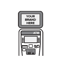 ATM Machine Outsourcing & Co-Branding machine topper screen
